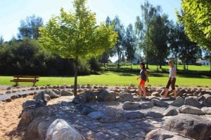 Barfuß-Labyrinth im Kurpark Bad Wörishofen
